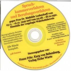 Ludendorff, Mathilde: Spruchkammerverfahren und Berufungsverfahren
