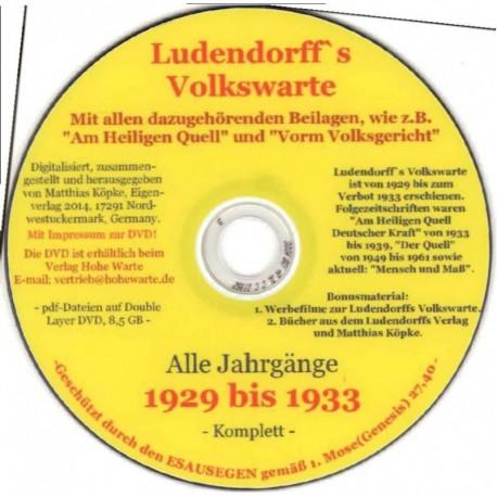 Ludendorffs Volkswarte – Alle Jahrgänge