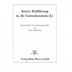 Weferling, Erich: Einführung in die Gotterkenntnis (Antiqua)