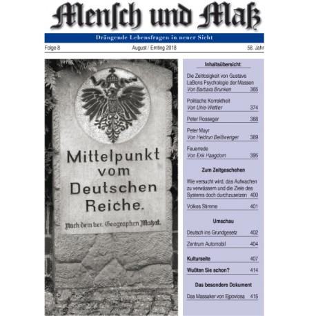 Mensch und Maß 8 /2018