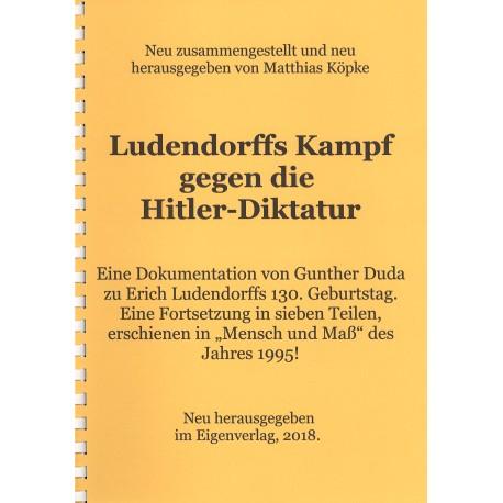 Ludendorffs Kampf gegen die Hitlerdiktatur