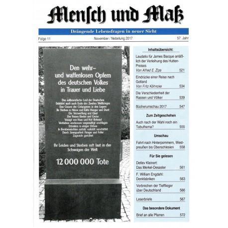 Mensch und Maß, 11/2017