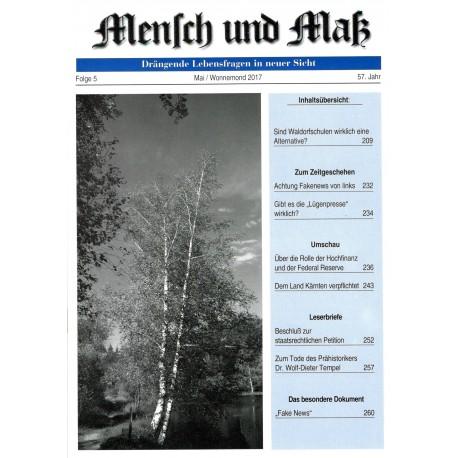 Mensch und Maß, 5/2017