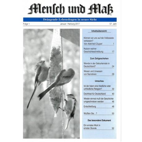 Mensch und Maß, 1/2017