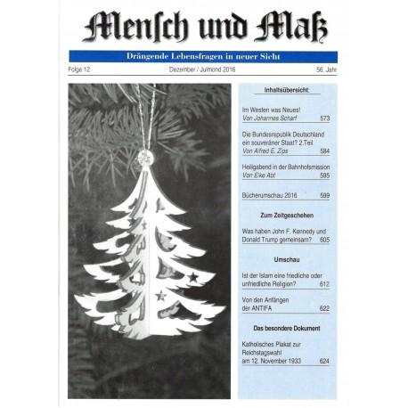 Mensch und Maß, 12/2016