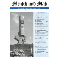 Mensch und Maß, 9/2016