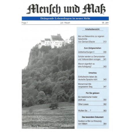 Mensch und Maß, 7/2016