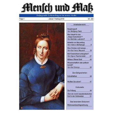 Mensch und Maß, Heft 1/2019