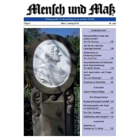 Mensch und Maß, Heft 3/2019