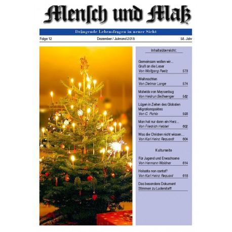 Mensch und Maß 12/2018