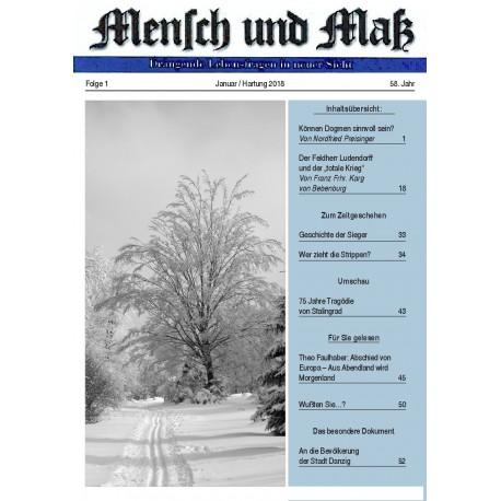 Mensch und Maß, Heft 1/2018