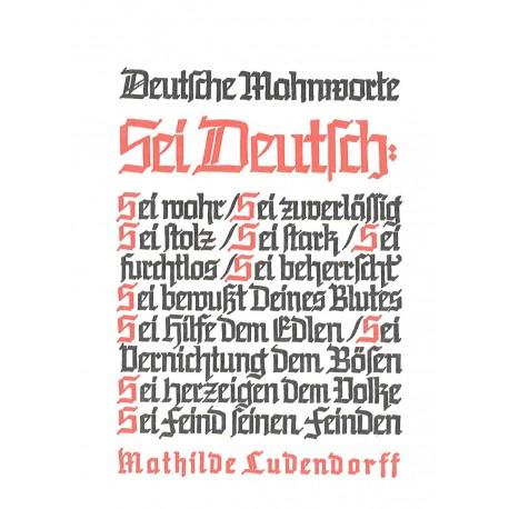 Ludendorff, Mathilde: Deutsche Mahnworte Postkarte