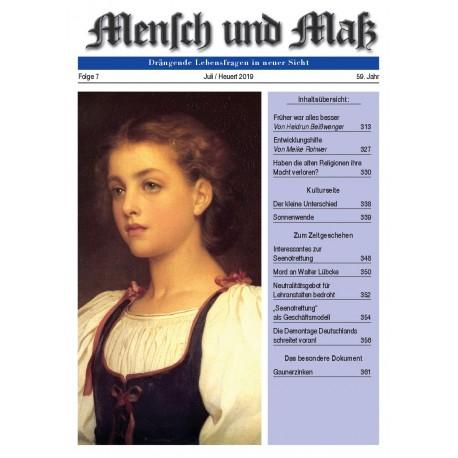 Mensch und Maß, 7/2019