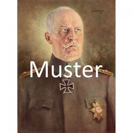 Bender, Prof.: Farbdruck nach Gemälde Erich Ludendorff