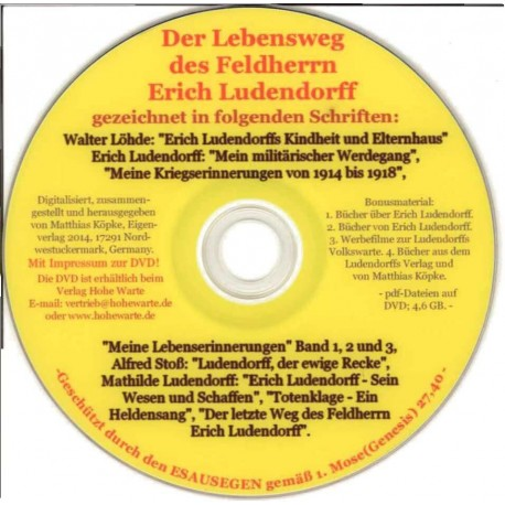 Der Lebensweg des Feldherrn Erich Ludendorff