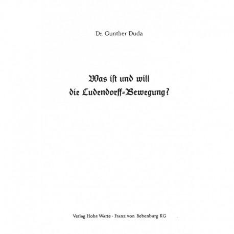 Duda, Gunther: Was ist und will die Ludendorff-Bewegung?