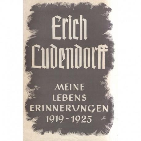 Ludendorff, Erich: Meine Lebenserinnerungen Band I